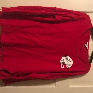 Red Game Day sweatshirt by Crown and Ivy sz lg